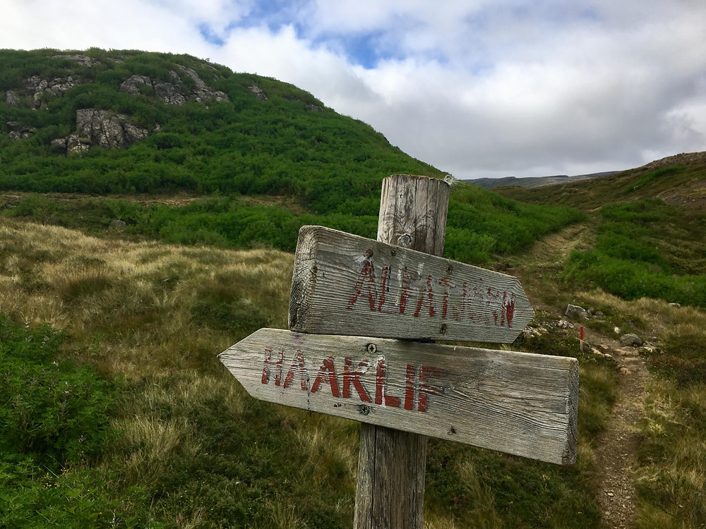 Hólmavík Iceland hillside beautiful hike