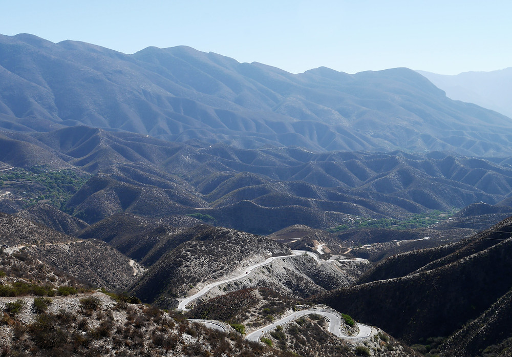 Scenic view of hills and mountains in mexico outside of jalpan