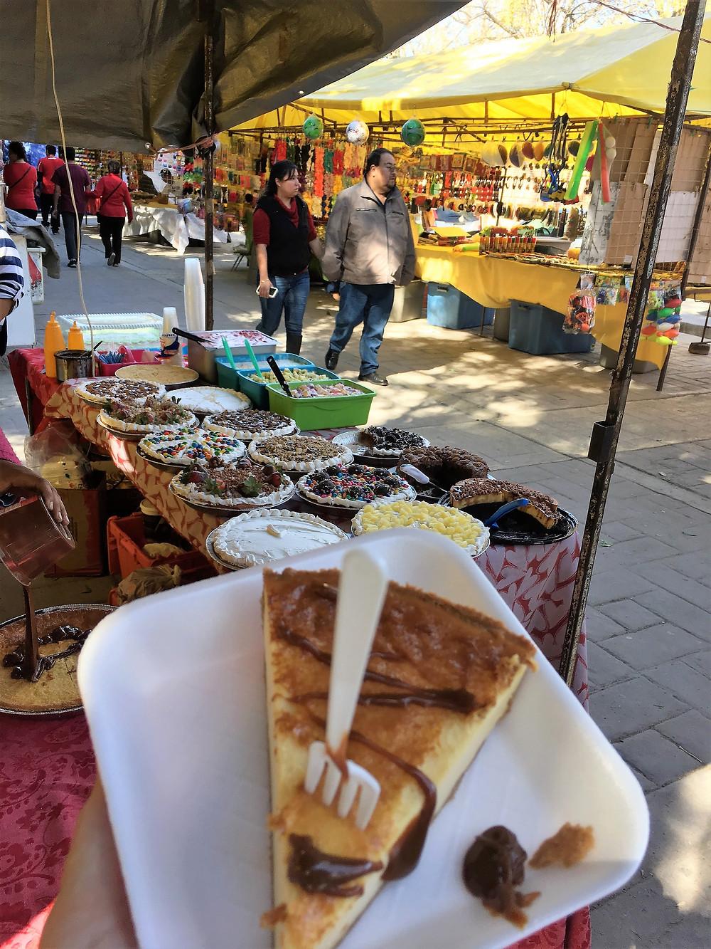 Arteaga market street vendors food stands