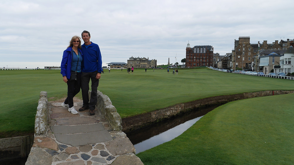 Swilcan Bridge 18th hole St. Andrews Scotland golf course