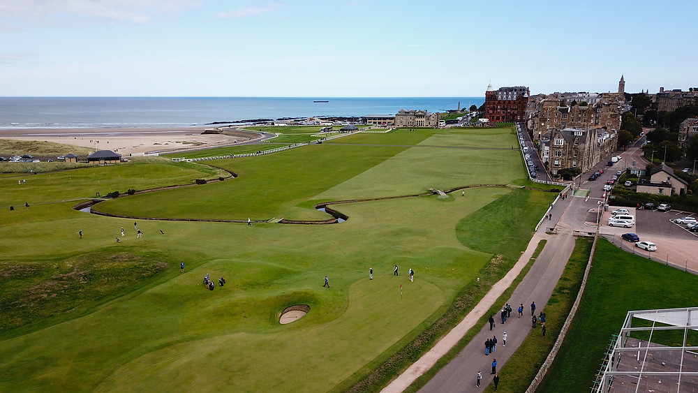 St. Andrews Old Course 6721 yards, par 72, Scotland golf