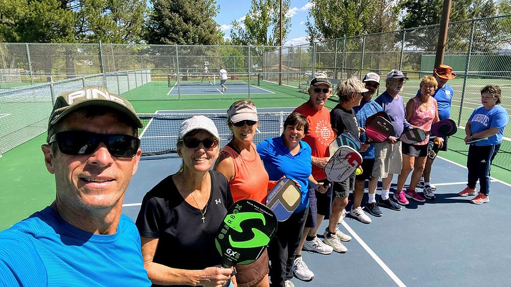 Cortez, Colorado Pickleball Players at Centennial Park Courts