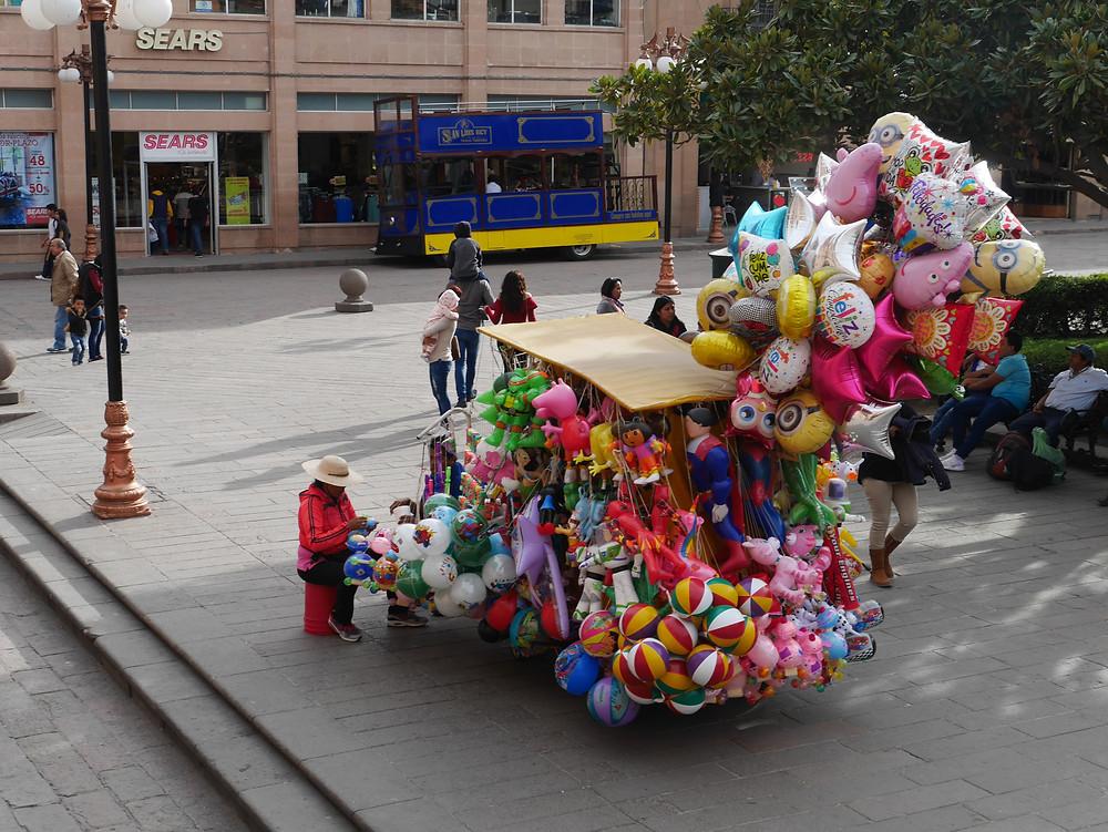 San Luis Potosí, Mexico balloon vendor