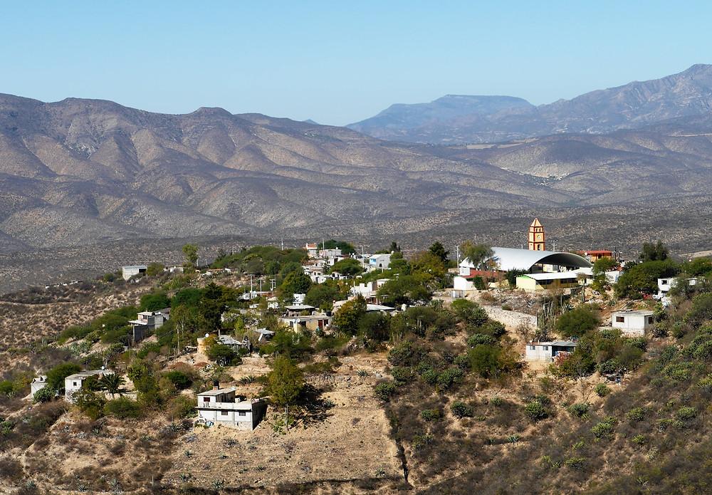 Pueblo Magico, Bernal Mexico hills scenic view
