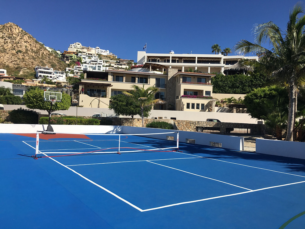 Pedregal courts, pickleball, ocean overlook, mexico, los barriles