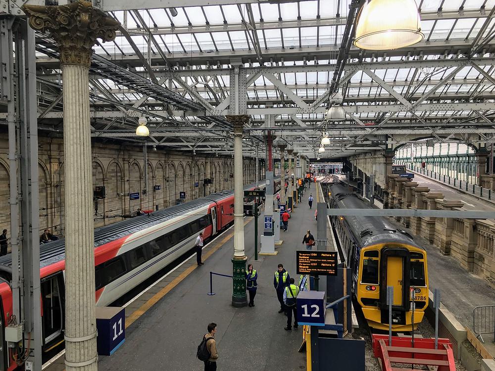 Edinburgh train station, scotland
