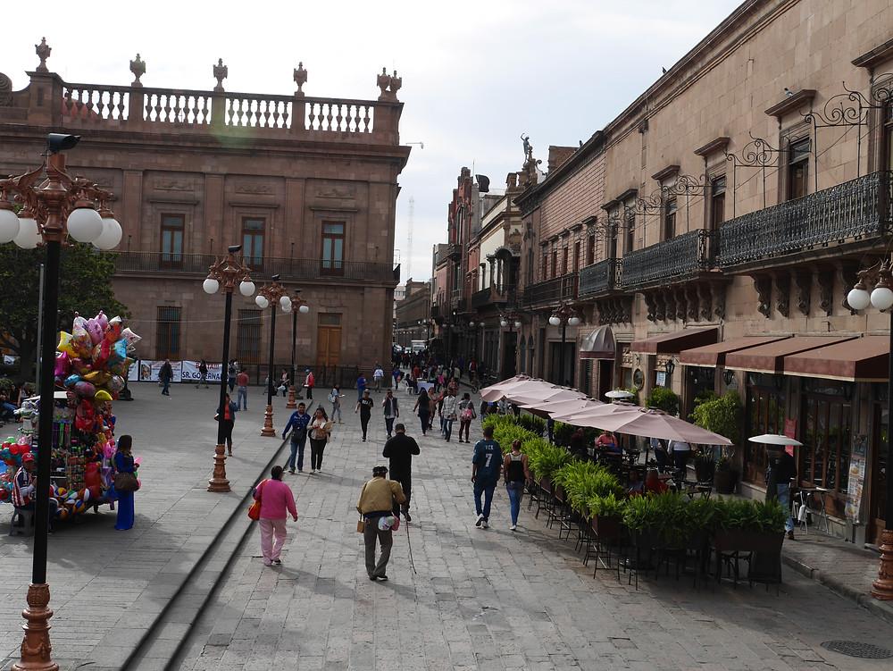 San Luis Potosí old town square mexico