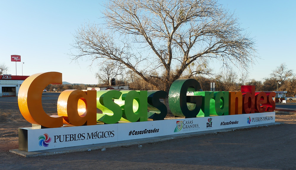 Casas Grandes sign, Chihuahua, Mexico