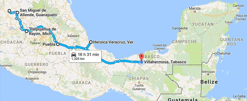 guanajuato-to-villahermosa-enlarged-map
