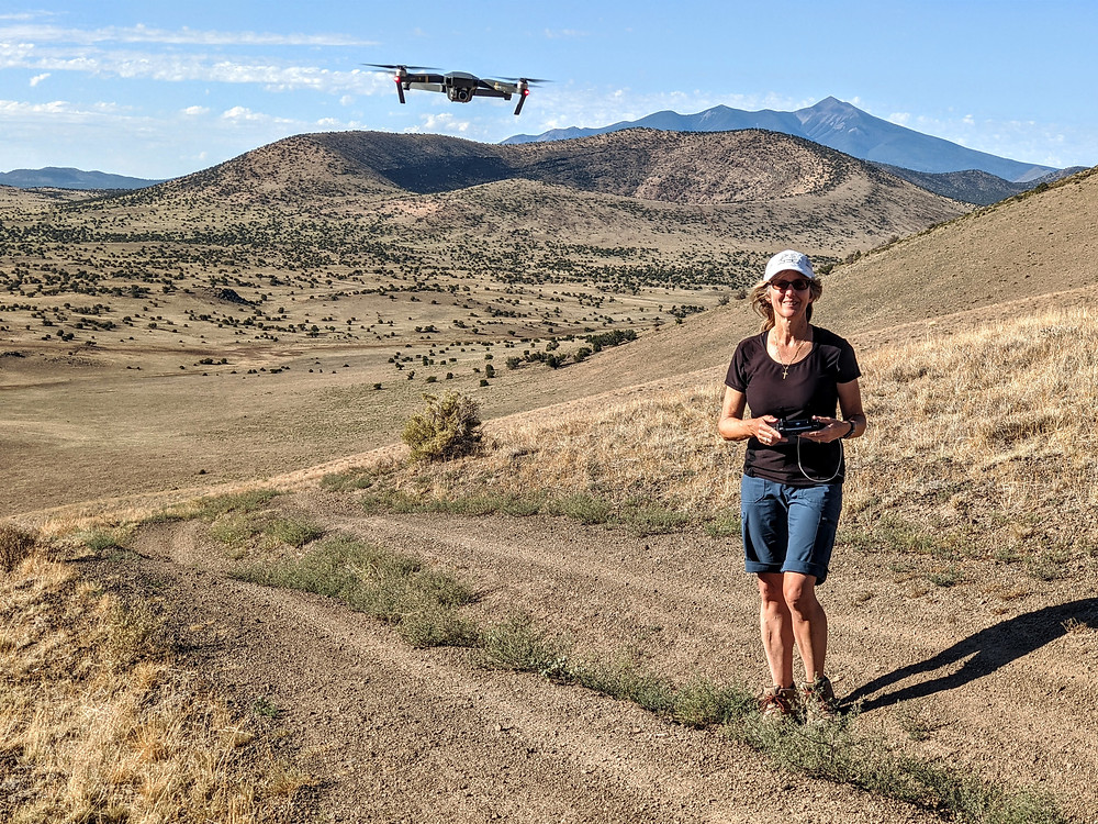 Drone Flying Photography Shot SP Crater Colton Crater Flagstaff, AZ HoverHigher.com Coffeys2Go.com Blog