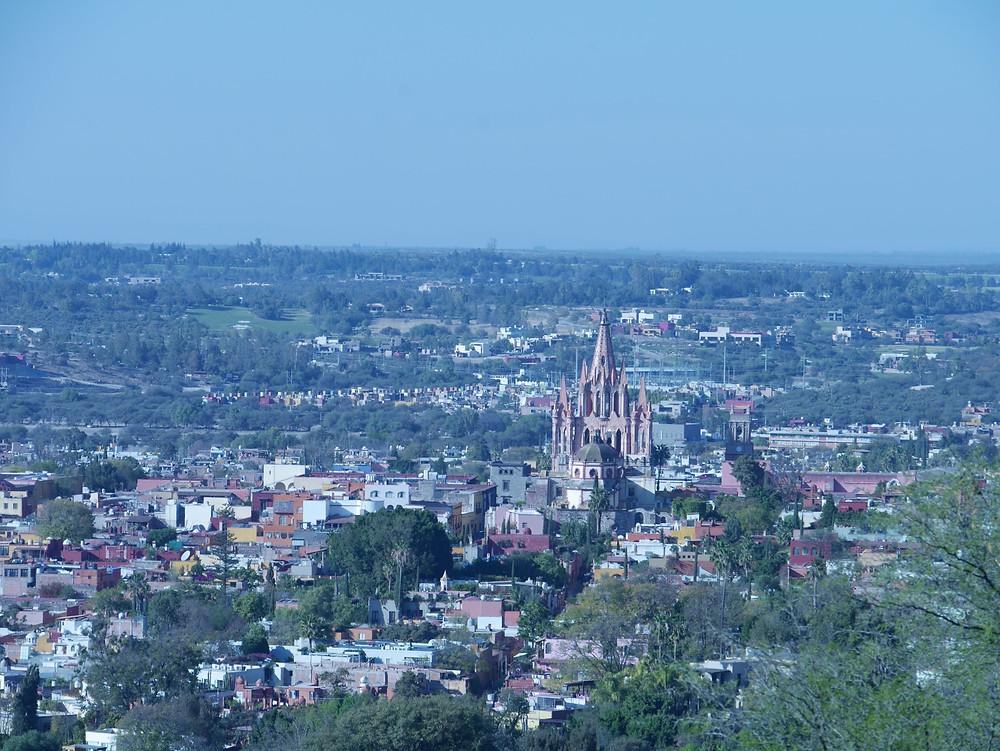 San Miguel de Allende cathedral in mexico
