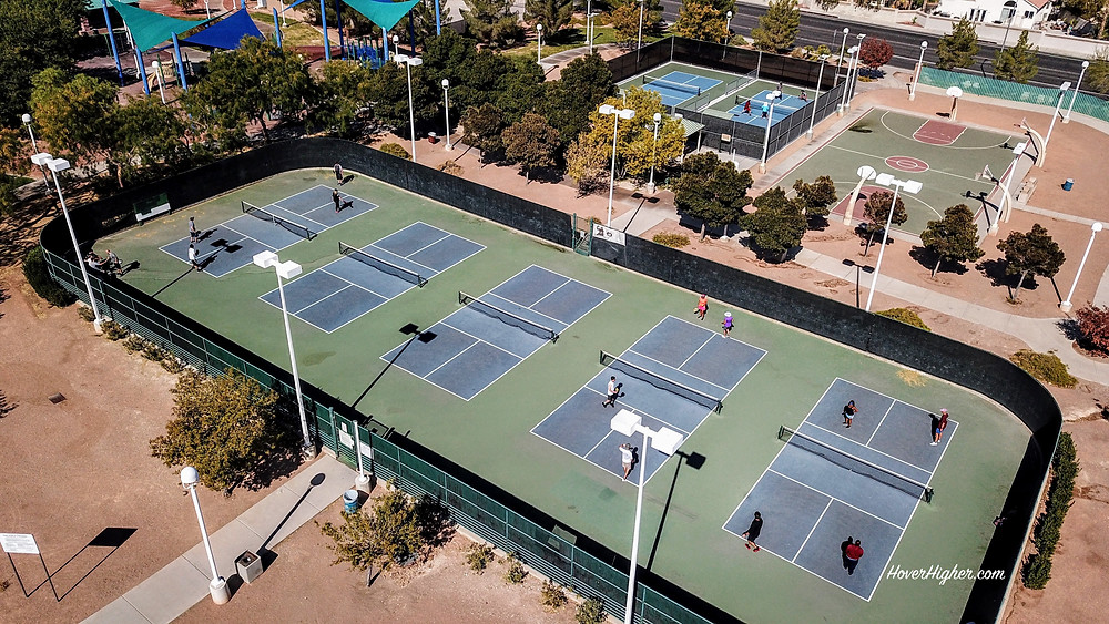 Las Vegas, NV Durango Hills Park Pickleball Courts Drone Photo Photography Shot HoverHigher.com