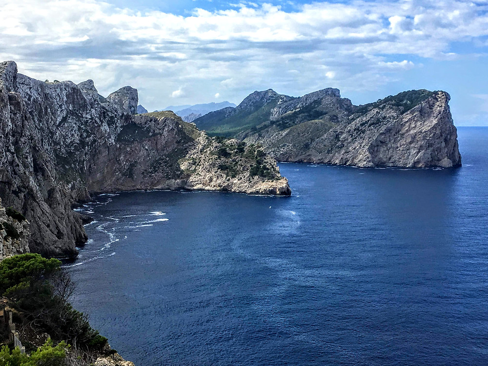 Mallorca Spain Ocean scenic cliffside view drone photography hoverhigher coffeys2go