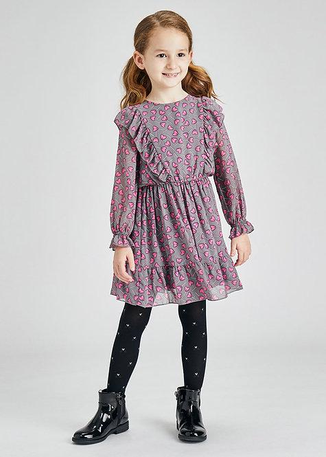 Φόρεμα με Μότιβο με Βόλαν  MAYORAL 4929