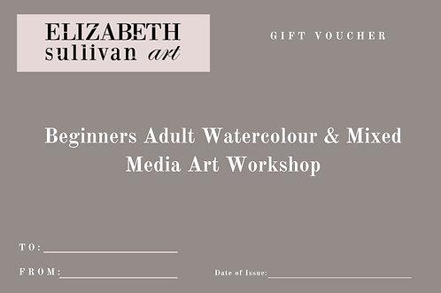Voucher for Watercolour & Mixed Media Art Workshop