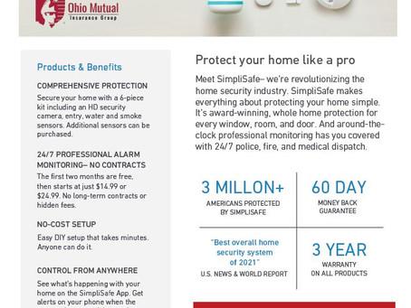Ohio Mutual Partners with SimpliSafe