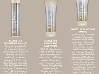 PINCH, PUNCH, FIRST OF THE MONTH - JOICO LAUNCH NEW BLONDE LIFE RANGE
