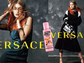GIGI HADID FOR VERSACE - ORANGE HAIR, DON'T CARE!