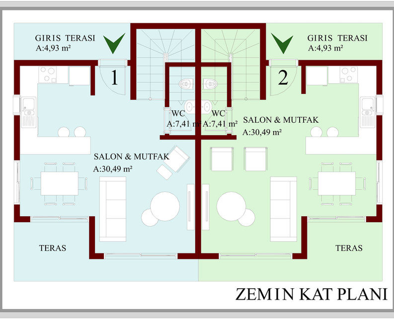 Ground Floor with Room Sizes