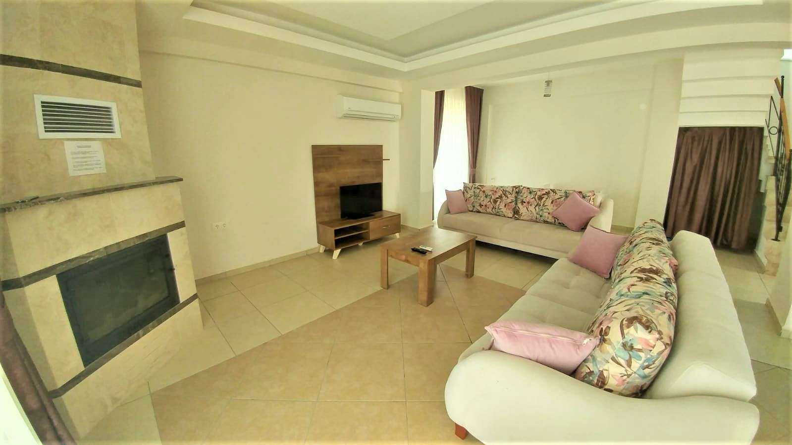 Lounge with AC and Woodburner