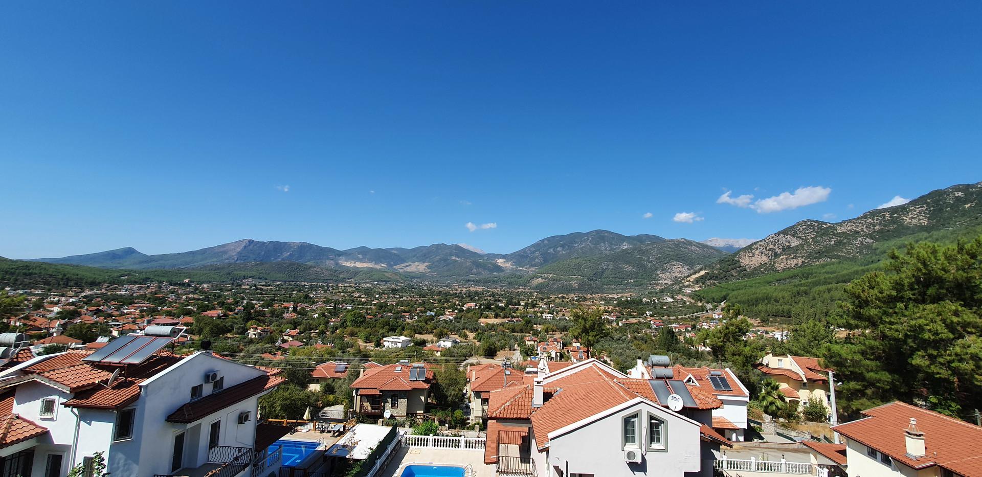 Roof terrace balcony view