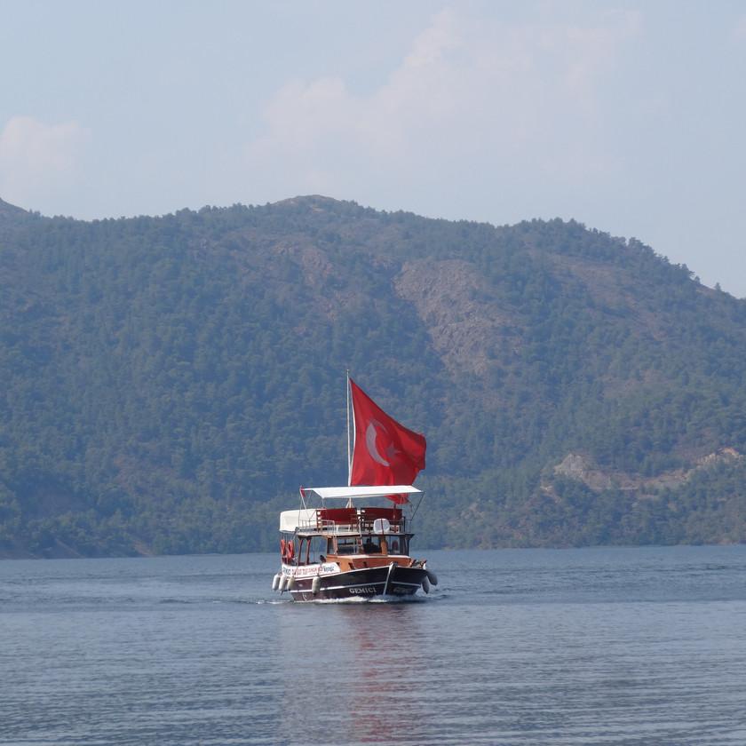 Boat Crossing Koycegiz Lake