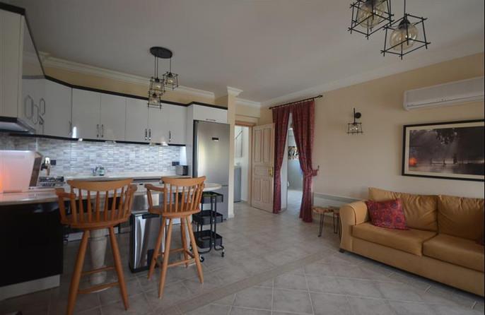 Kitchen through to hallway & bedrooms 1 & 2