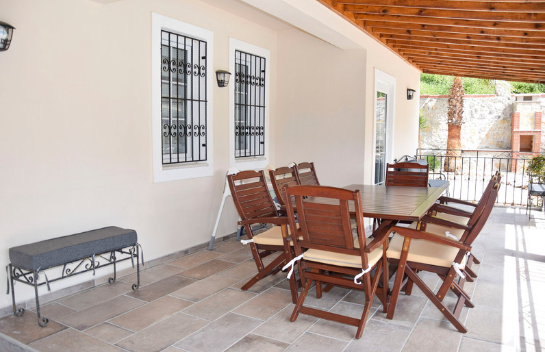 Shady Dining Terrace, off Lounge/Kitchen