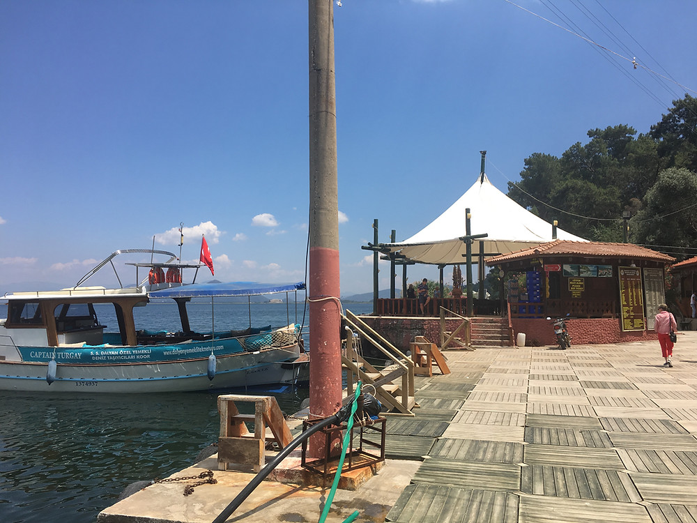 Cafe Boat Taxi Koycegiz lake