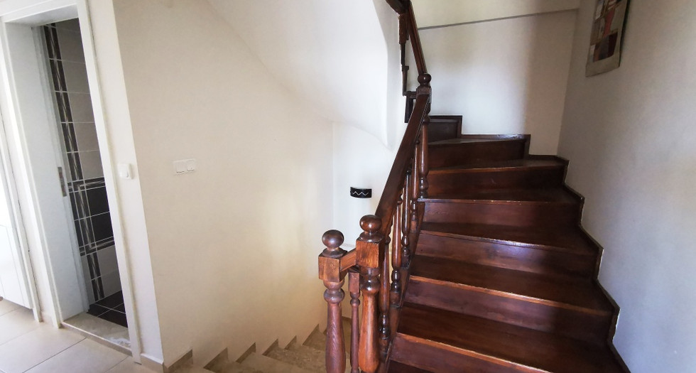 Wooden Stairs/Living Level WC
