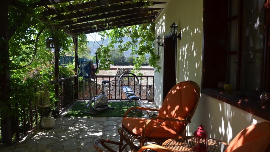 L shaped terrace balcony
