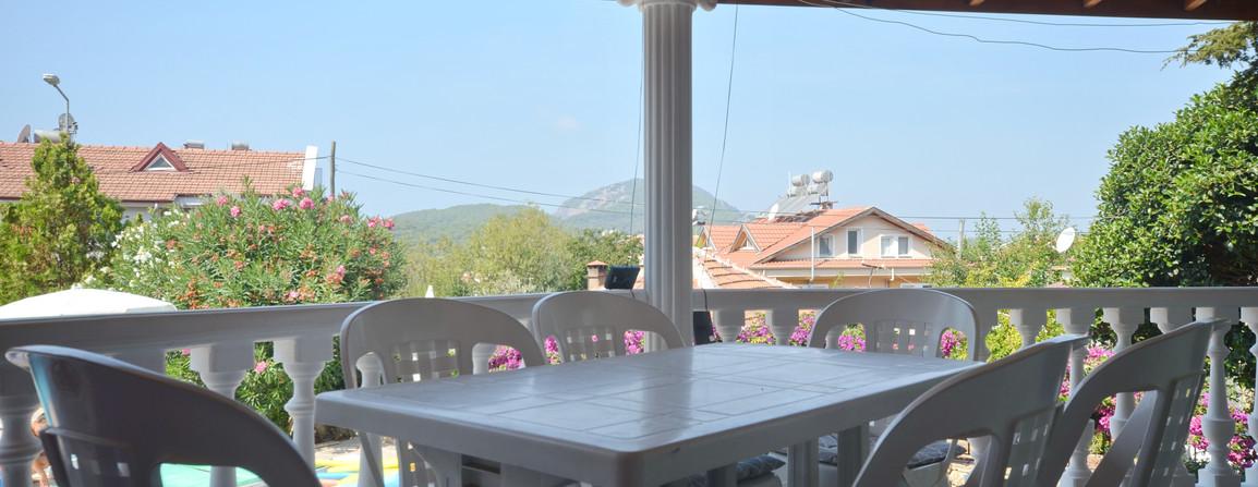 Large Roofed Terrace Balcony