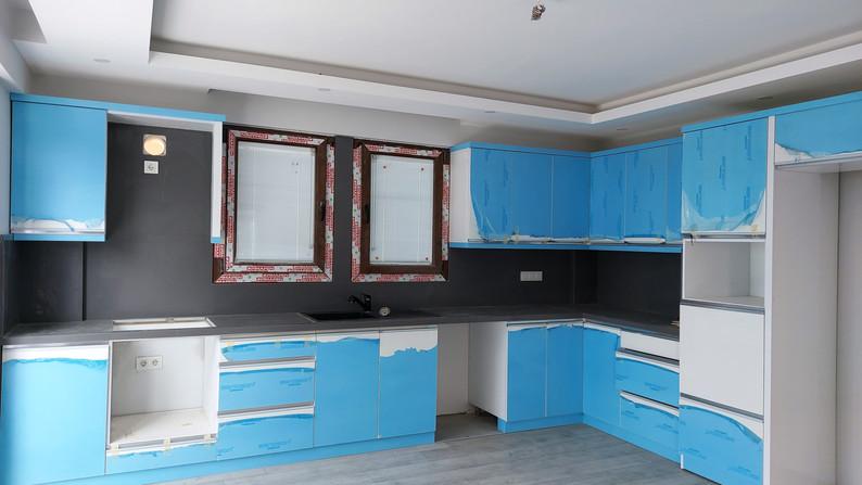 Kitchen (white units)