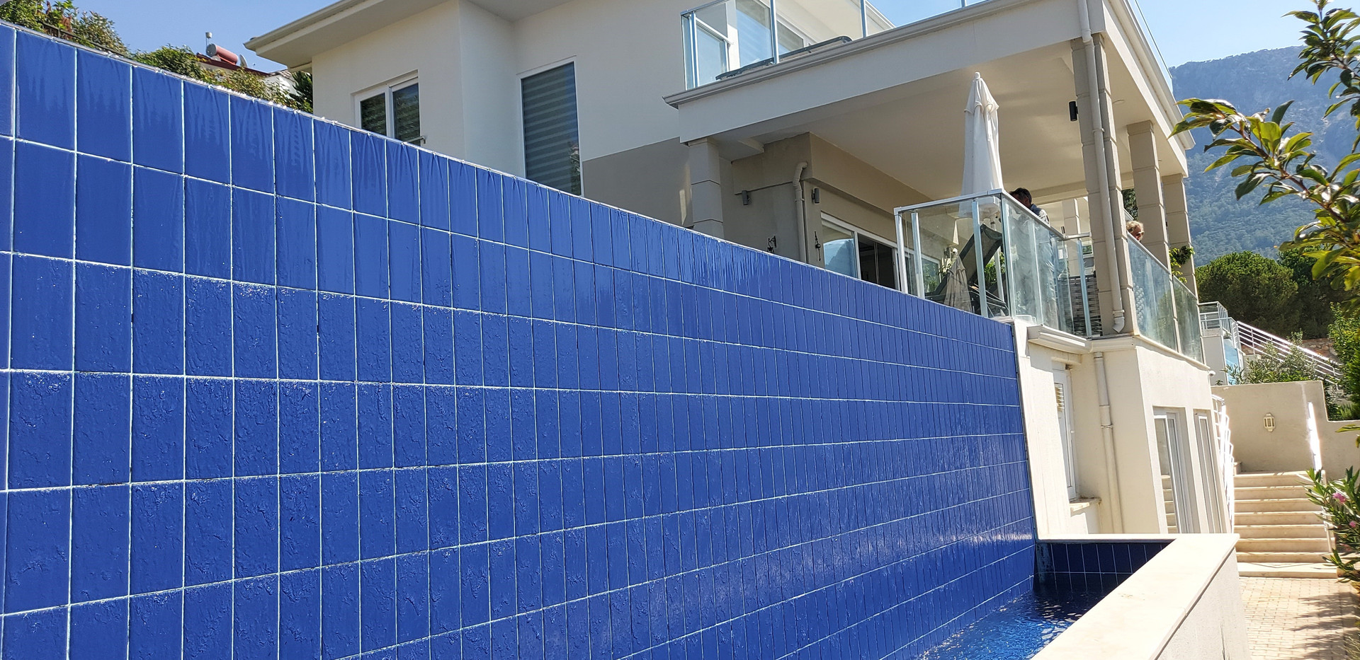 Waterfall Feature to Pool
