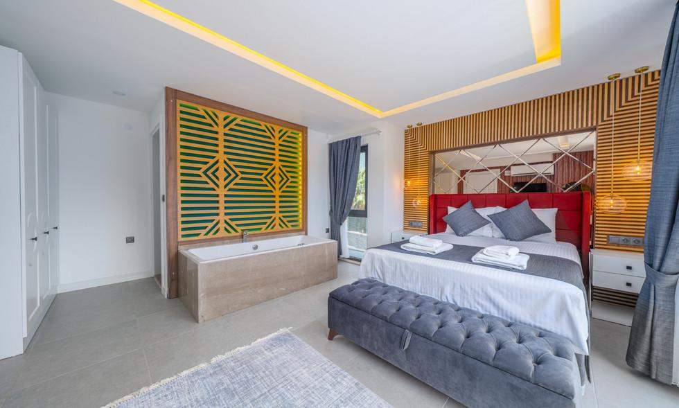 Bedroom One with Jacuzzi Bath