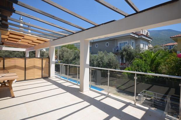 Balcony Overlooks Pool