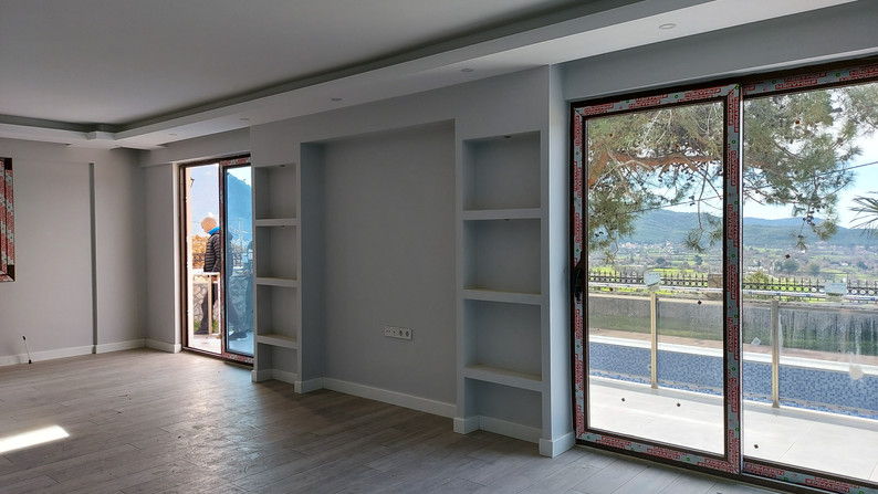 Patio doors off living area