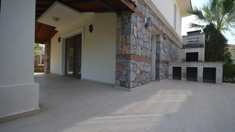 Balcony has BBQ area