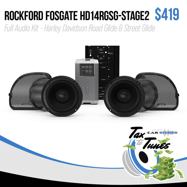 Rockford Fosgate Stage2 Audio Kit - Harley Davidson