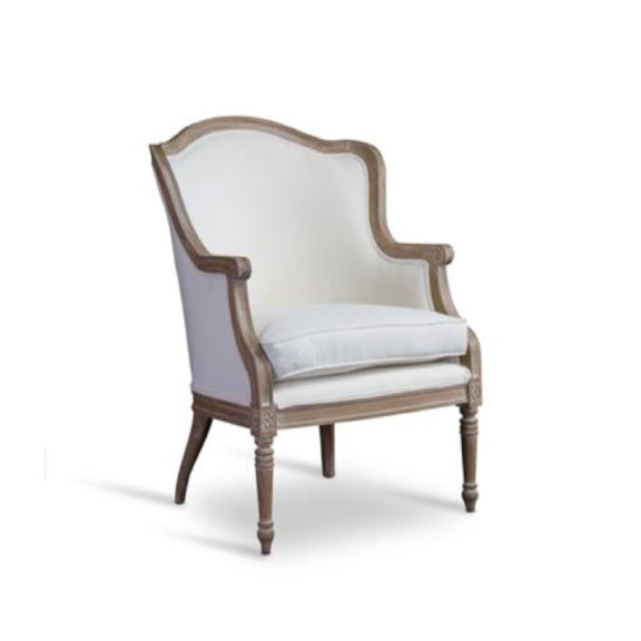 Ella Ivory French Chair