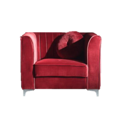 Ciara Red Velvet Chair