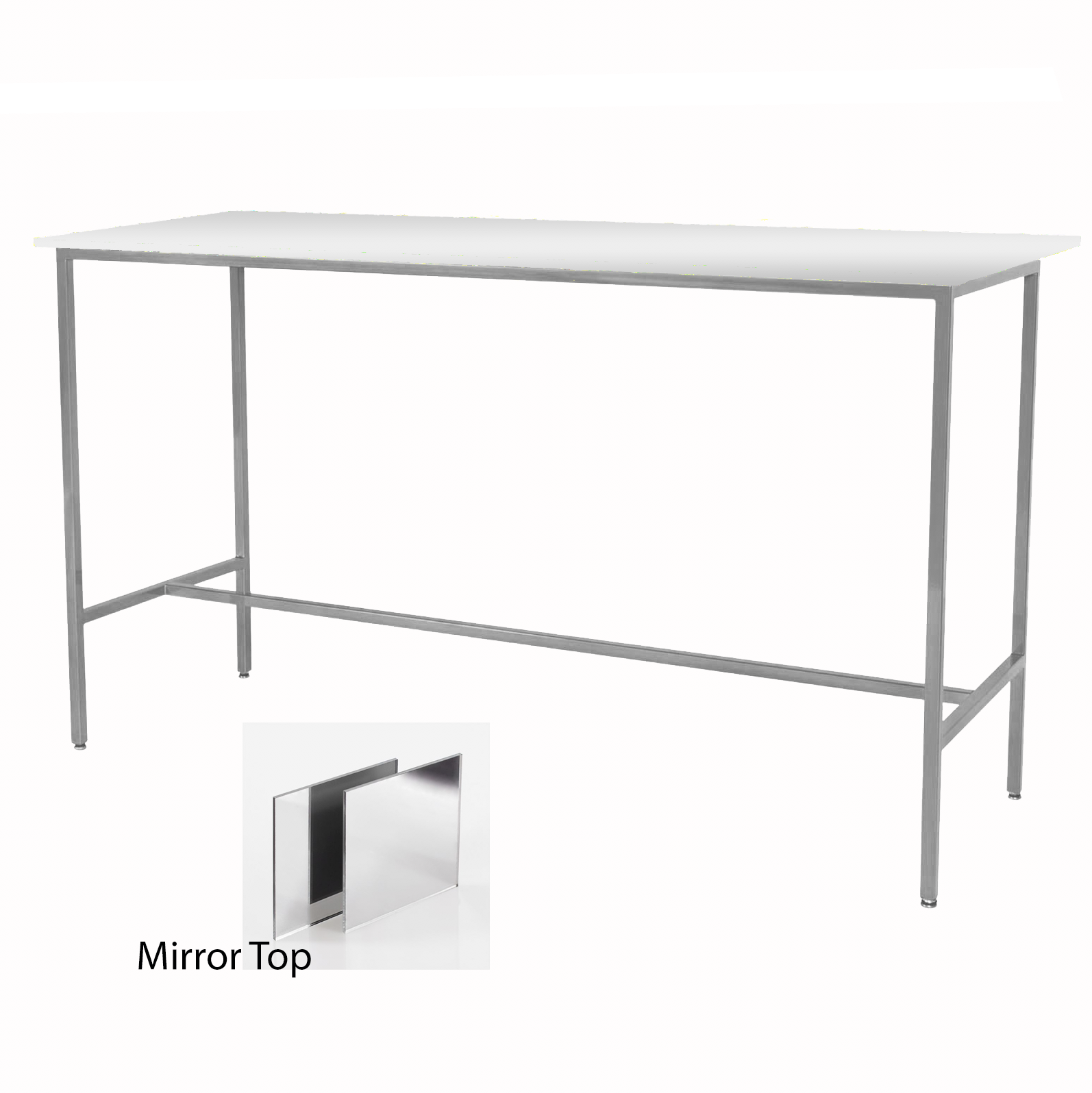 Mirror/Silver Taylor Communal Table  $150