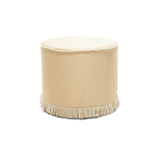 Gold Fringe Ottomans $40