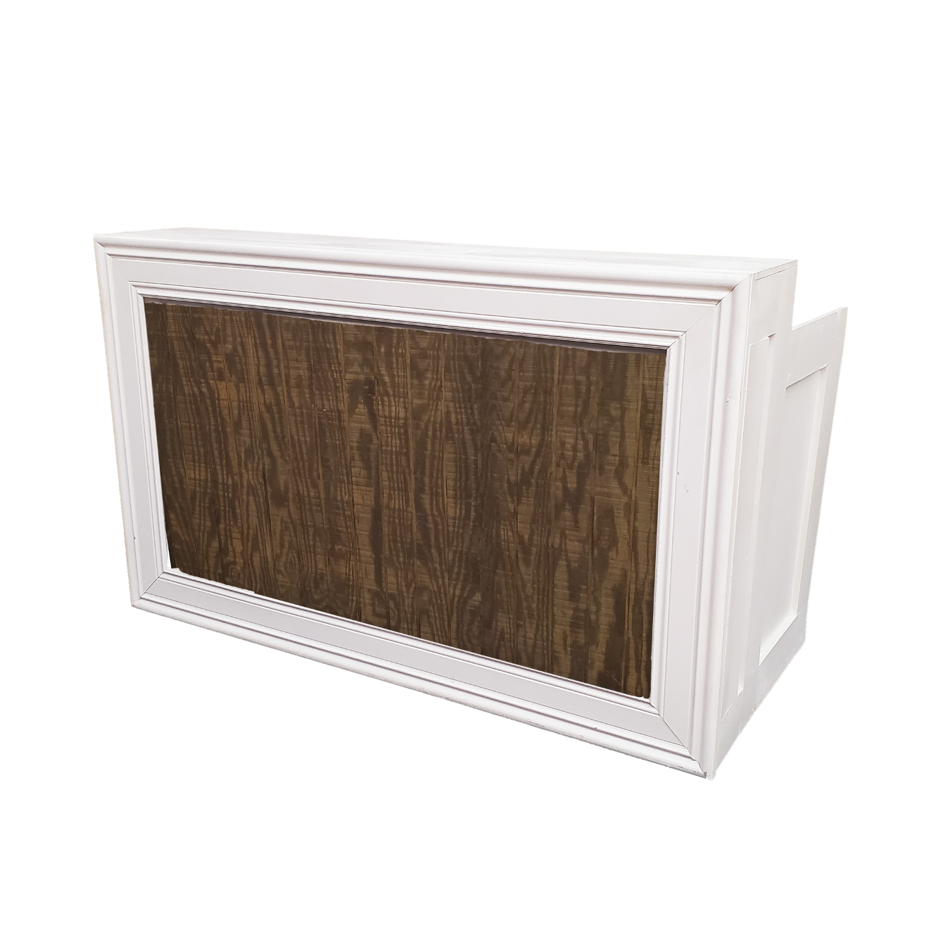 White Frame/Mahogany Insert $250