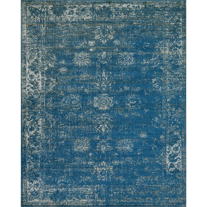 Blue/Tan Area Rug