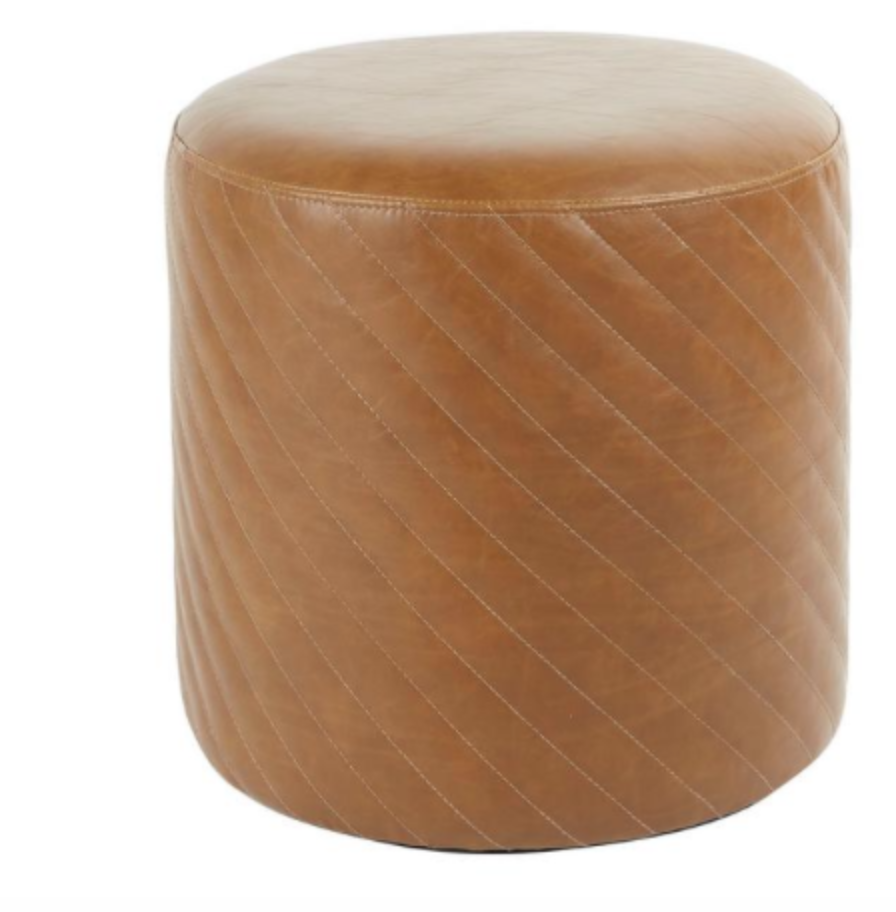 Leather Tufted Ottoman $40