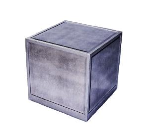 Antique Mirror Cube Table  $50