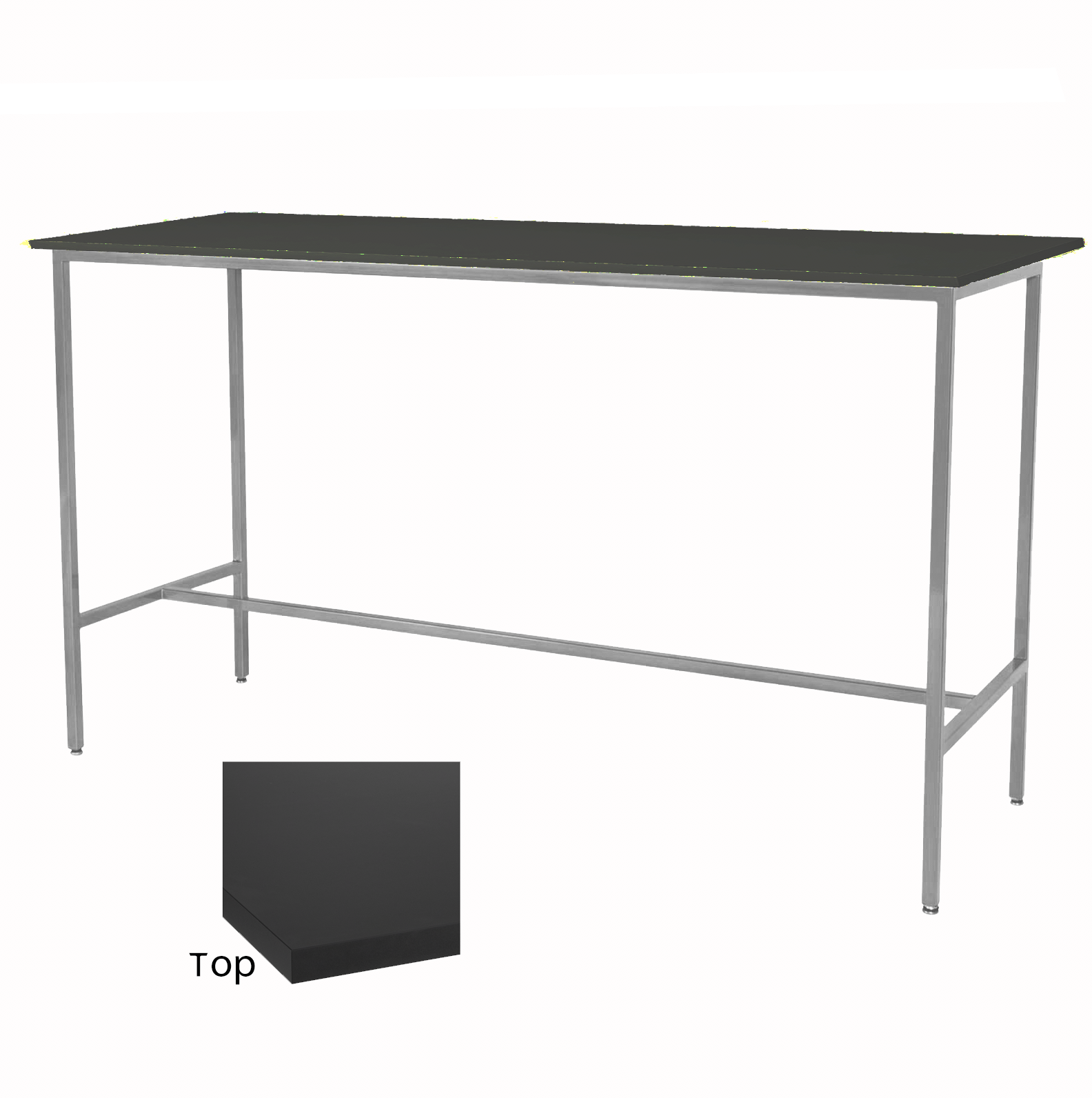 Black/Silver Taylor Communal Table  $100