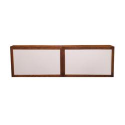 Double Wood Frame Bar/White Insert $400