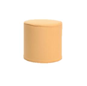 Yellow Round Slipcover Ottoman $40